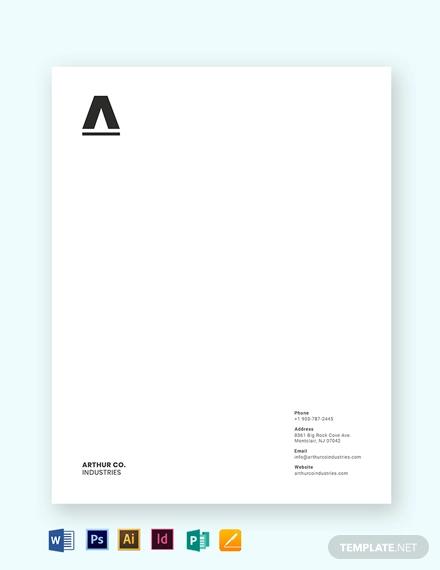 minimal business letterhead template1