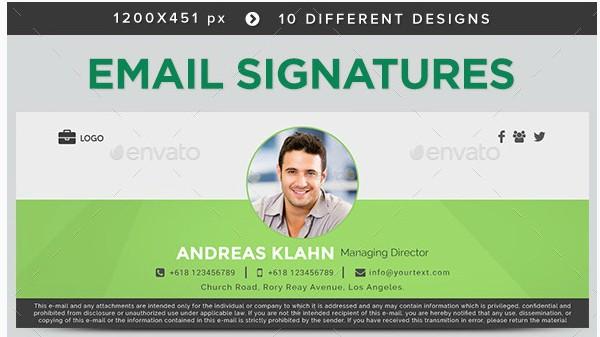 minimal creative email signature example