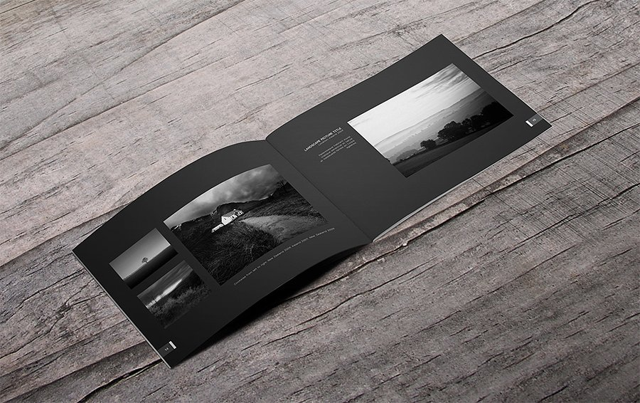minimal photography portfolio catalog template