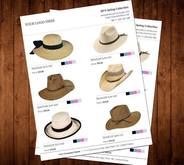 minimalist wholesale product catalog example