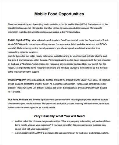 7 small catering business plan examples pdf word mobile food small catering business plan example cheaphphosting Gallery