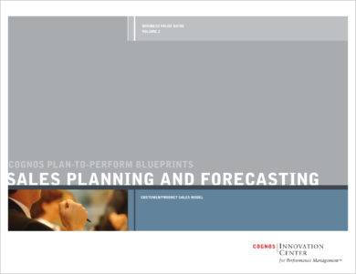monthly sales planning and forecasting example