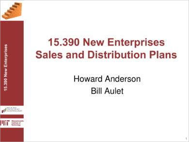 monthly sales and distribution plan example