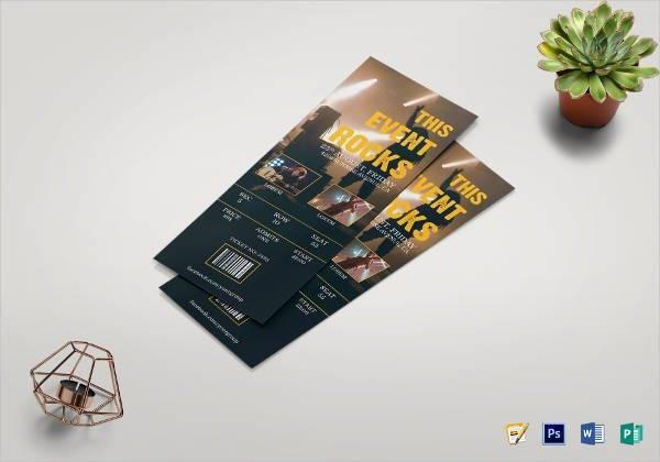 music concert event ticket template design event tickets event
