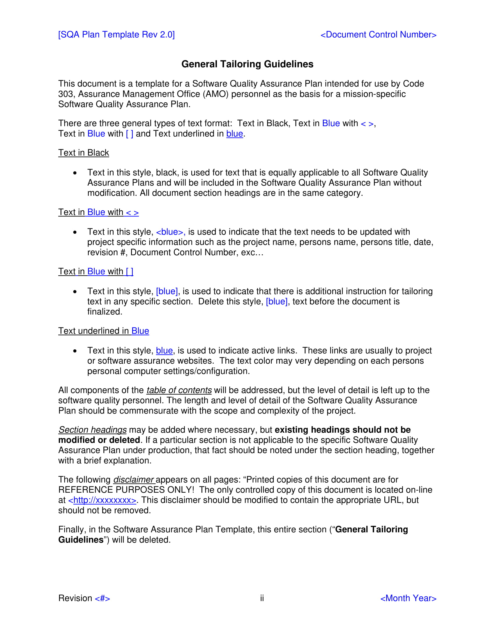 mortgage quality control plan template.html