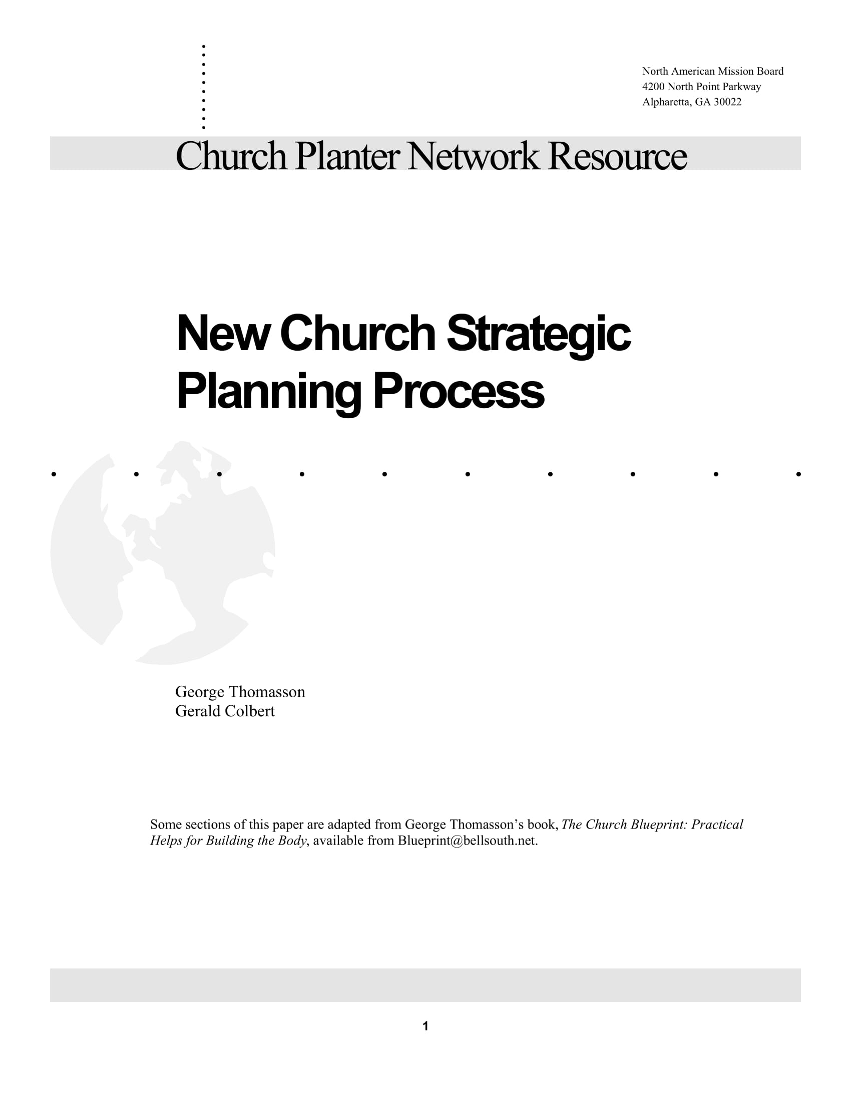 new church strategic planning process example 01
