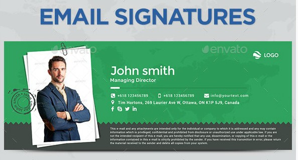 new creative email signature example