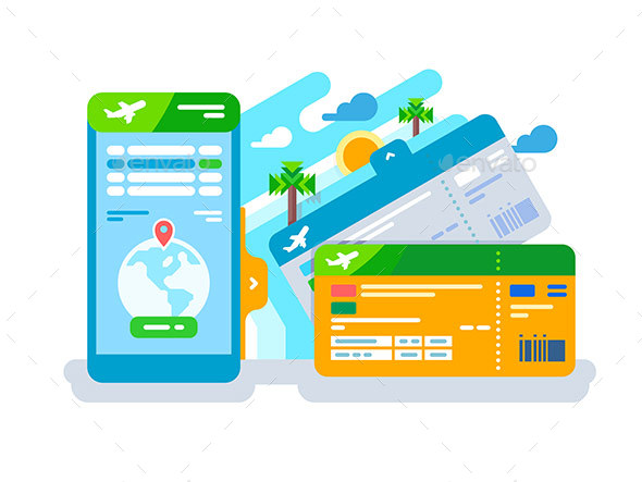 new smartphone plane boarding ticket example
