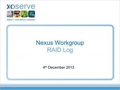 nexus workgroup raid log example1