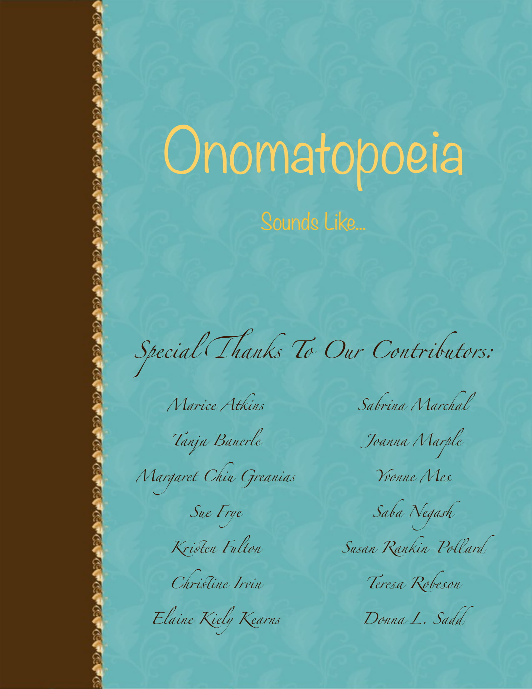 9+ Onomatopoeia Examples in Literature - PDF | Examples