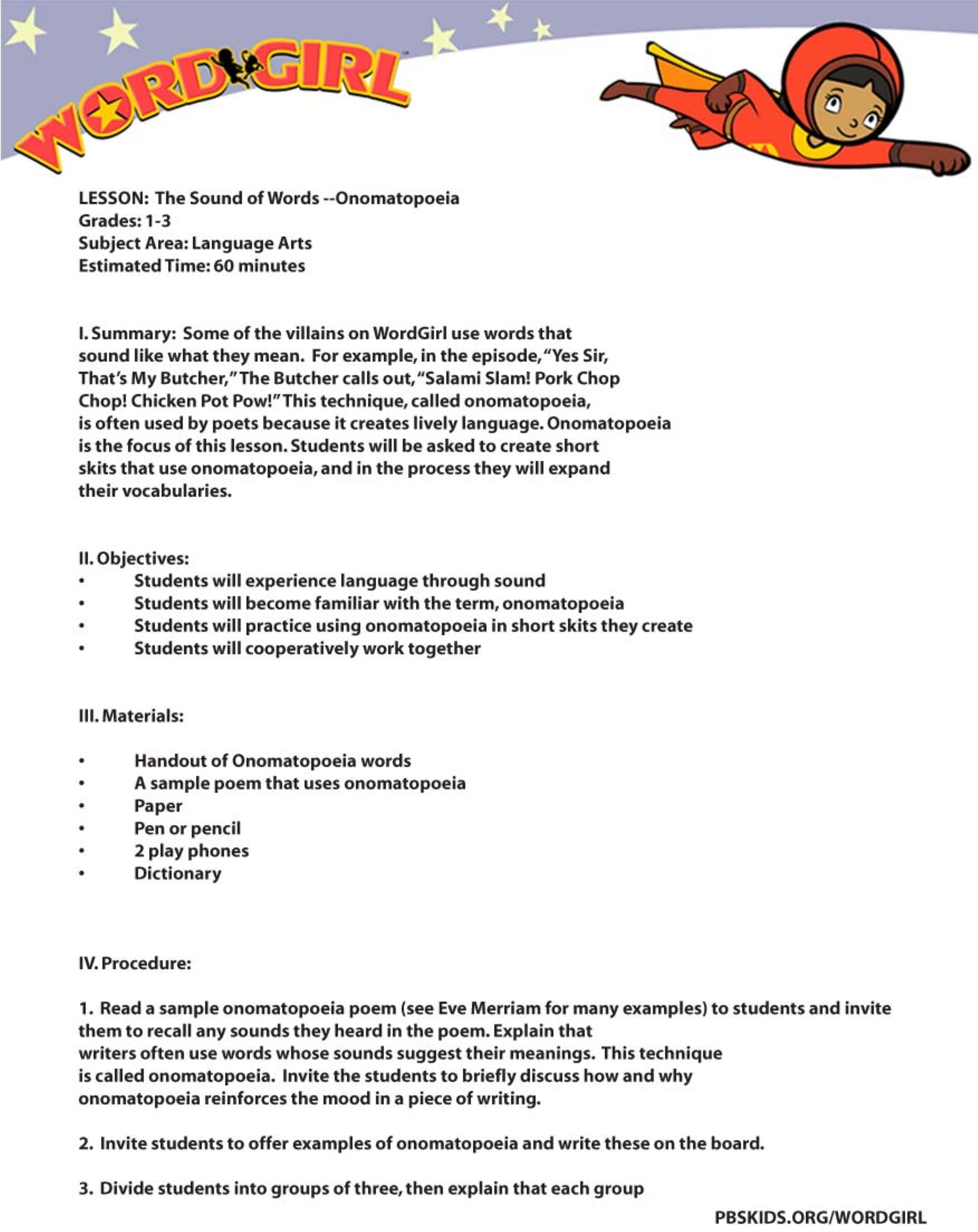 onomatopoeia worksheet for kids example