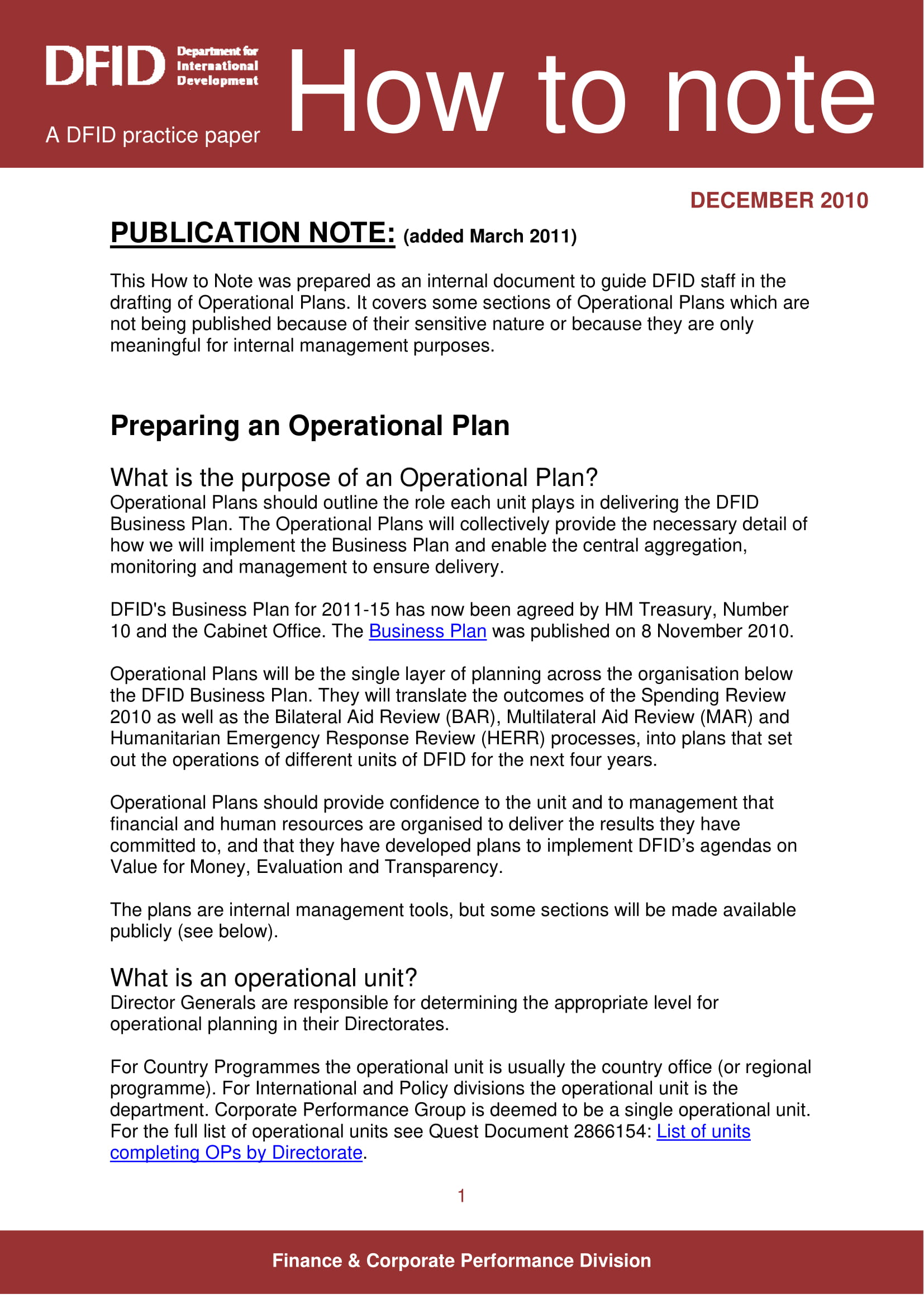 operational business plan example 01