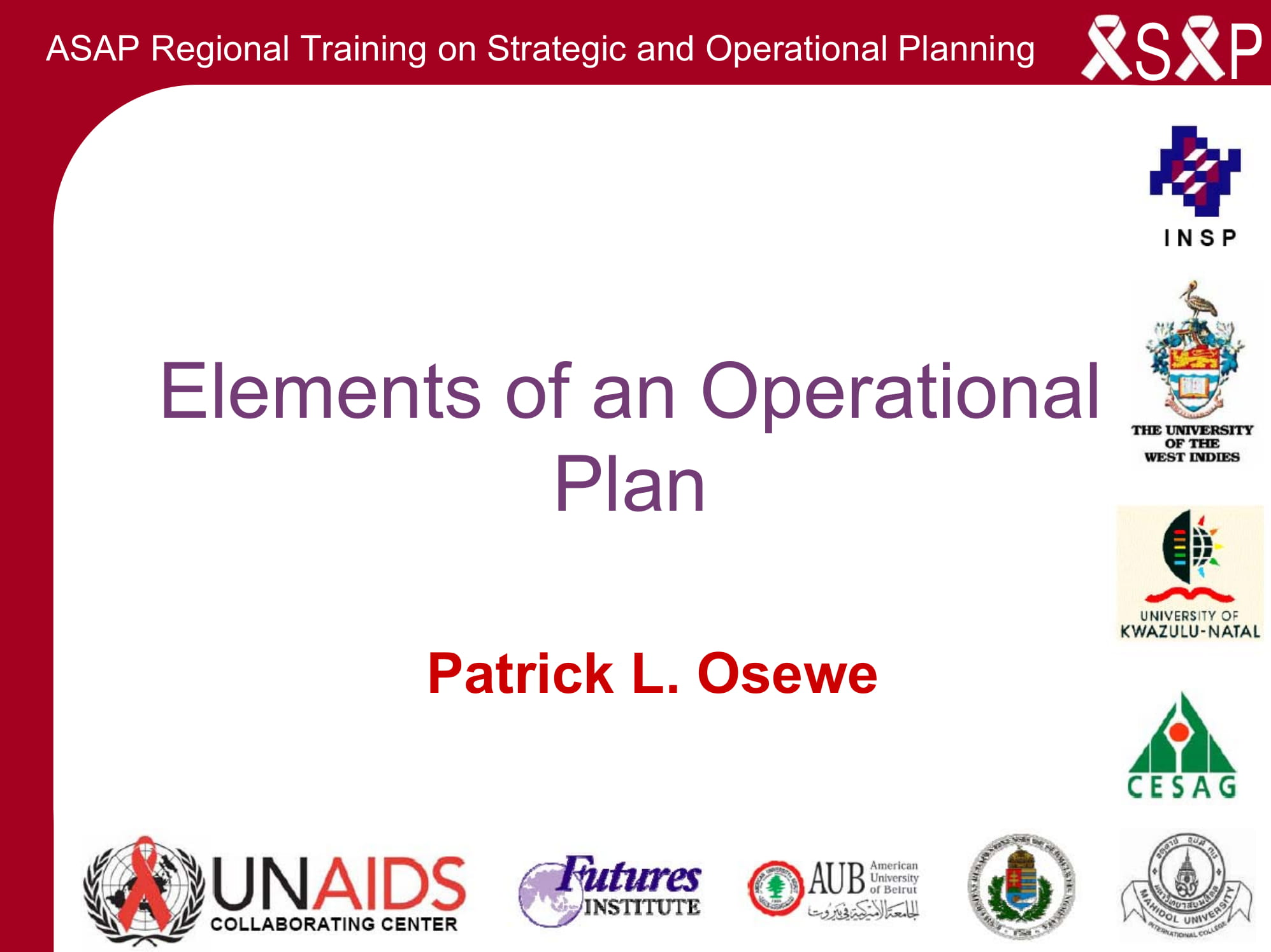 operational plan for business plan elements example 01