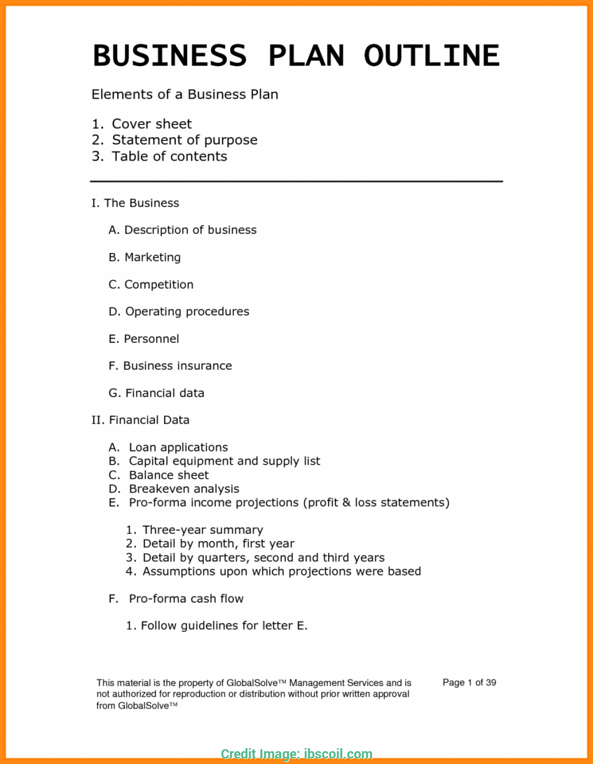 outline for restaurant business plan example