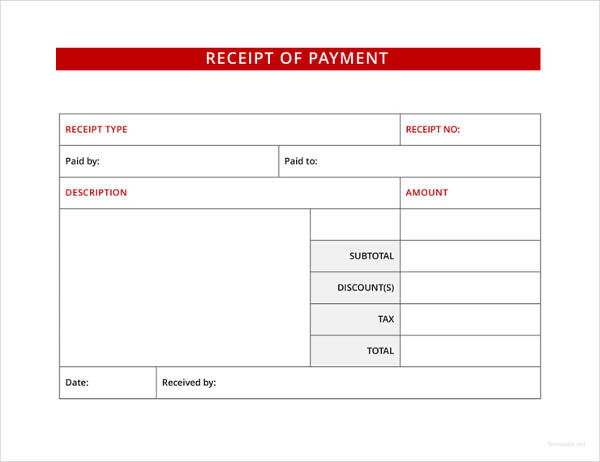 payment receipt example