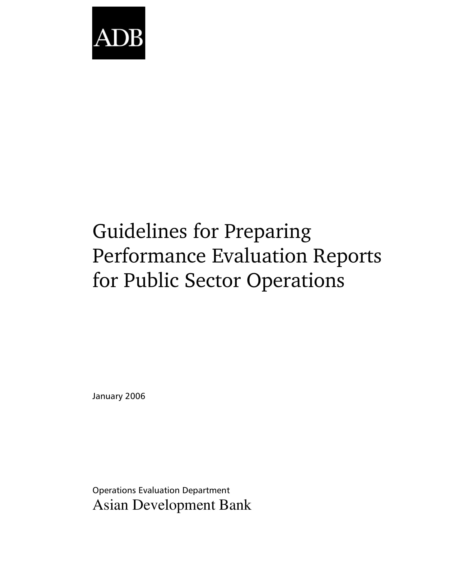 performance evaluation reports for public sector operations preparation guidelines example 01