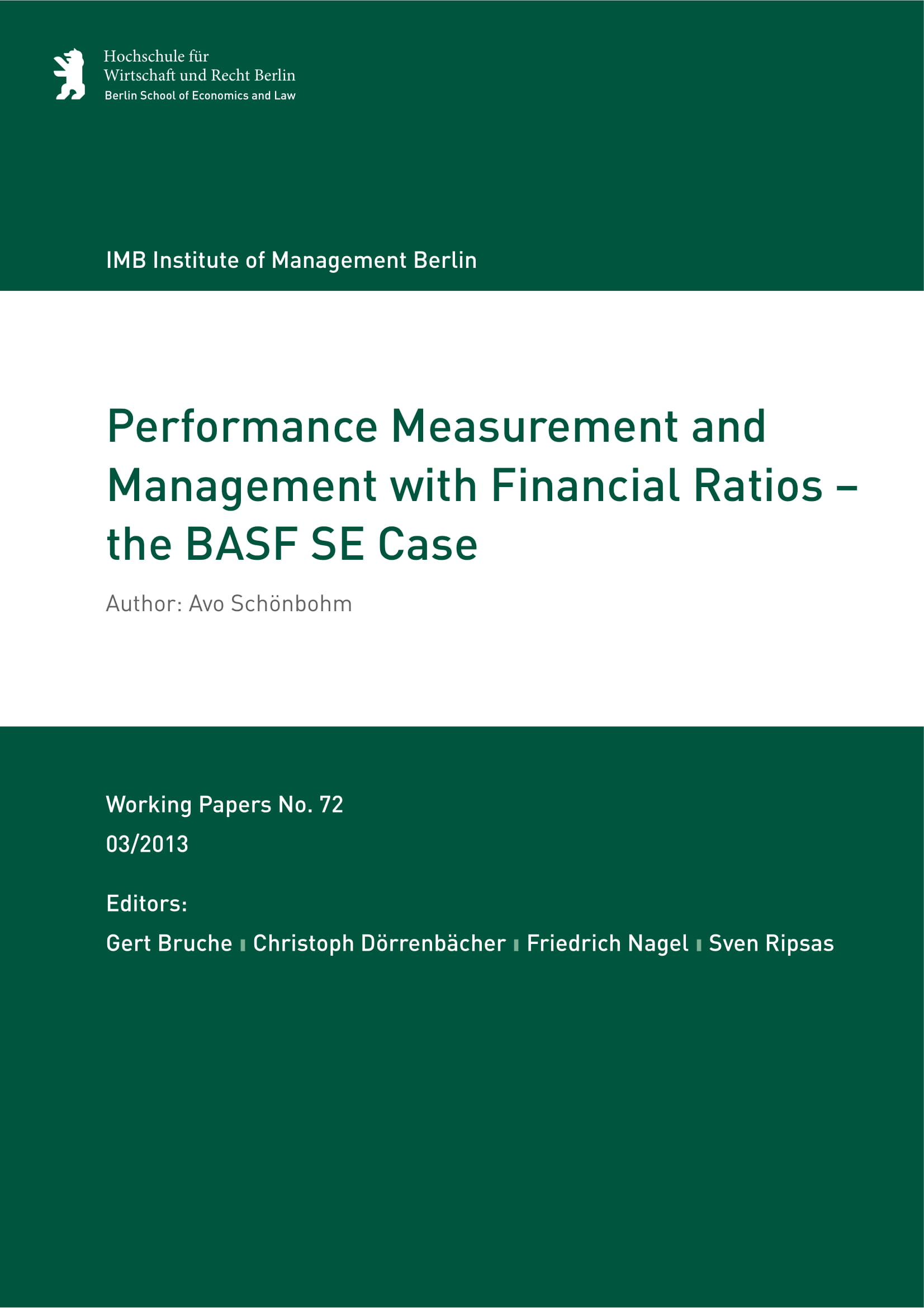 performance measurement and management with financial rations report example 01