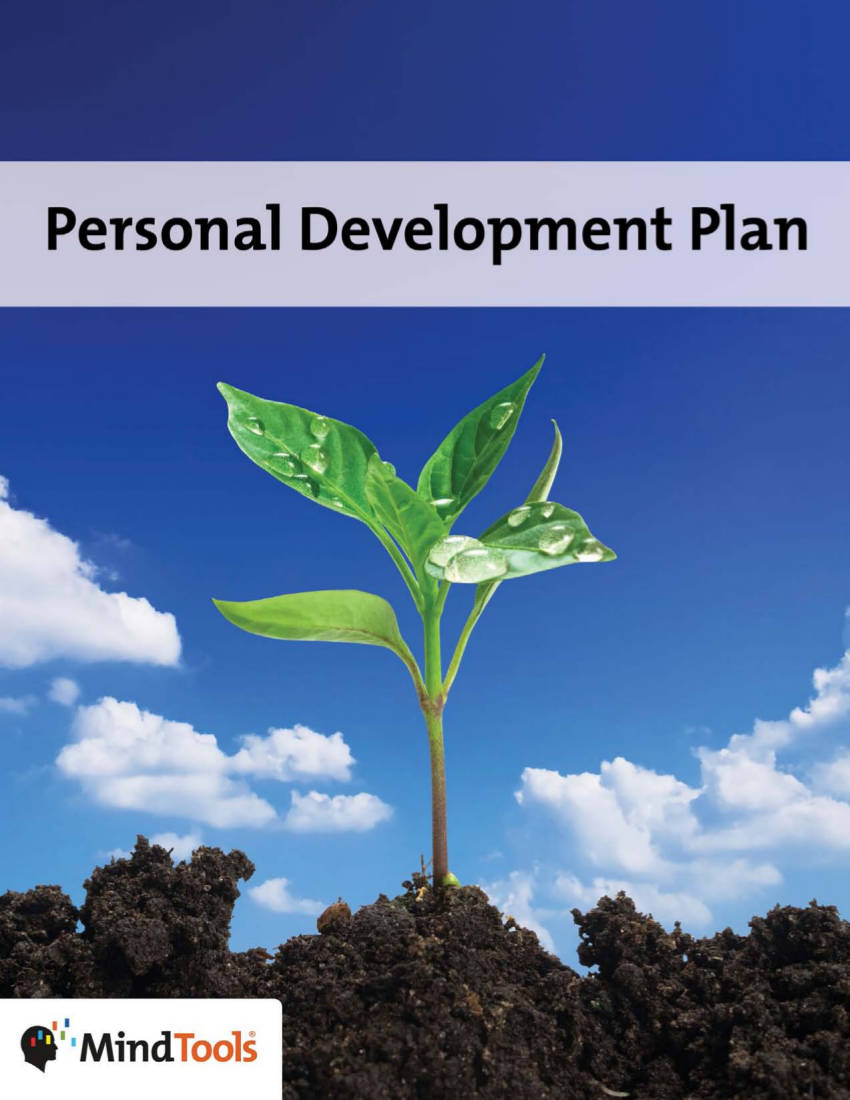 personal development actio plan example