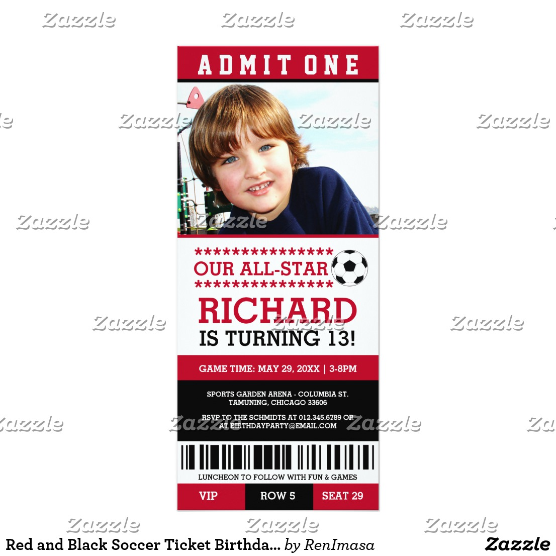 photo football tournament ticket example