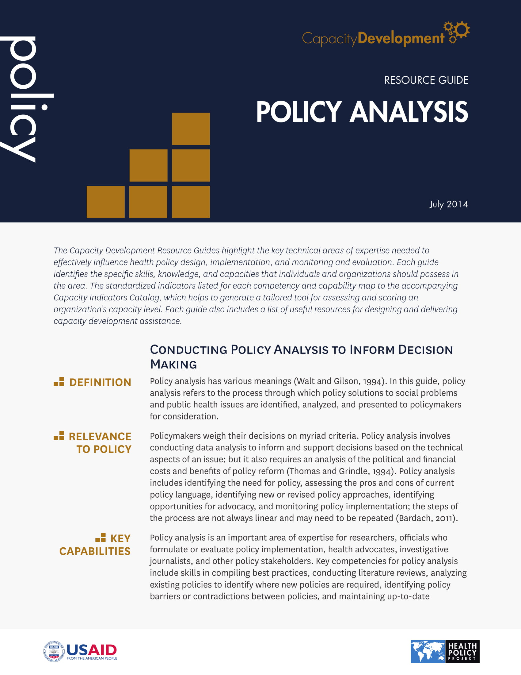 policy analysis resource guide example 1