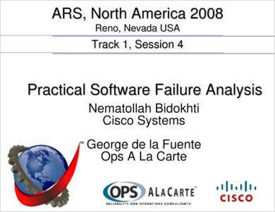 practical software failure analysis example
