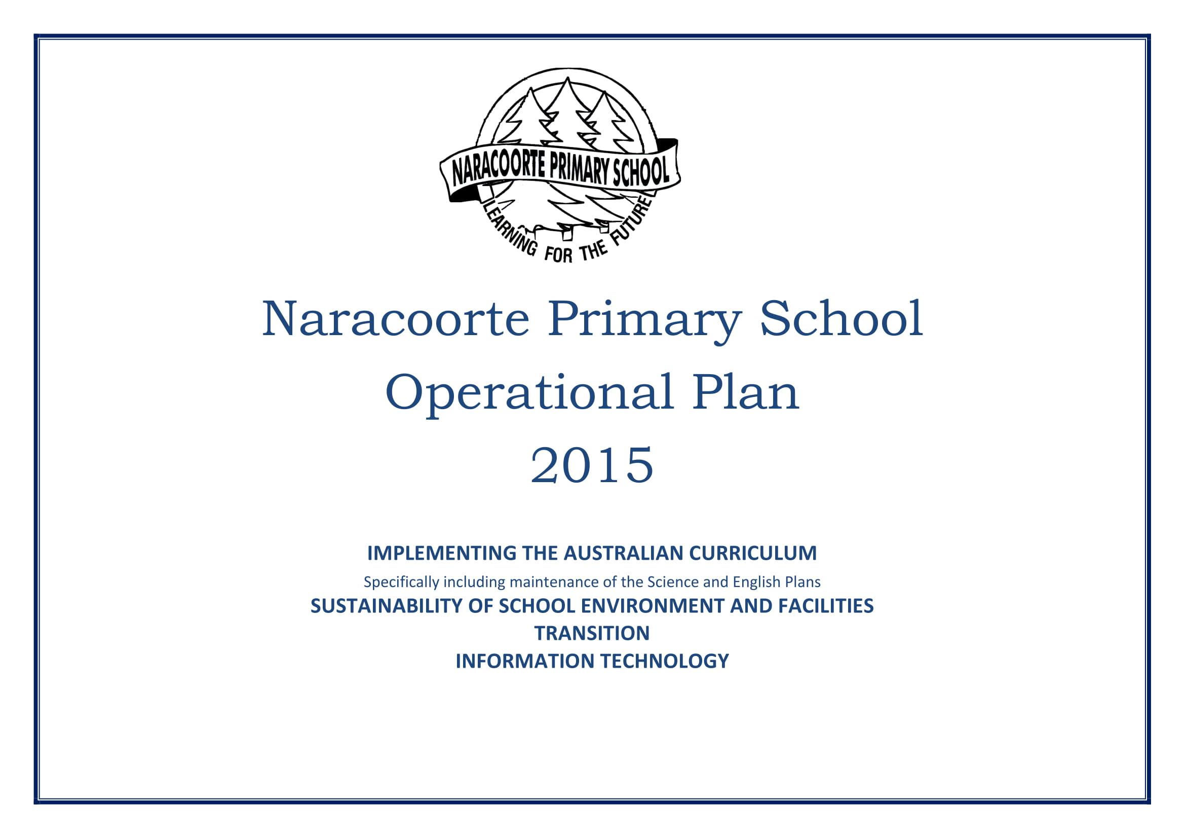 primary school operational plan example 1