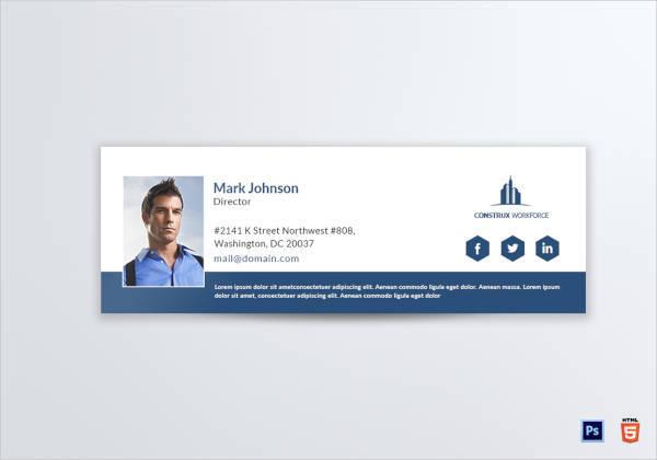 printable architecture director email signature