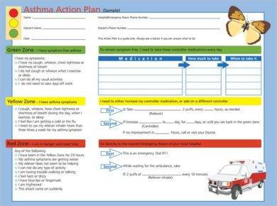 printable asthma action plan sample