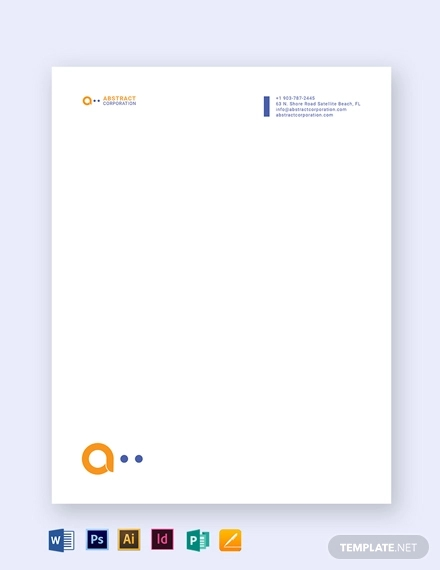 printable business letterhead template