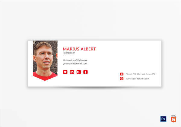 19 Printable Email Signature Designs Examples Psd Ai