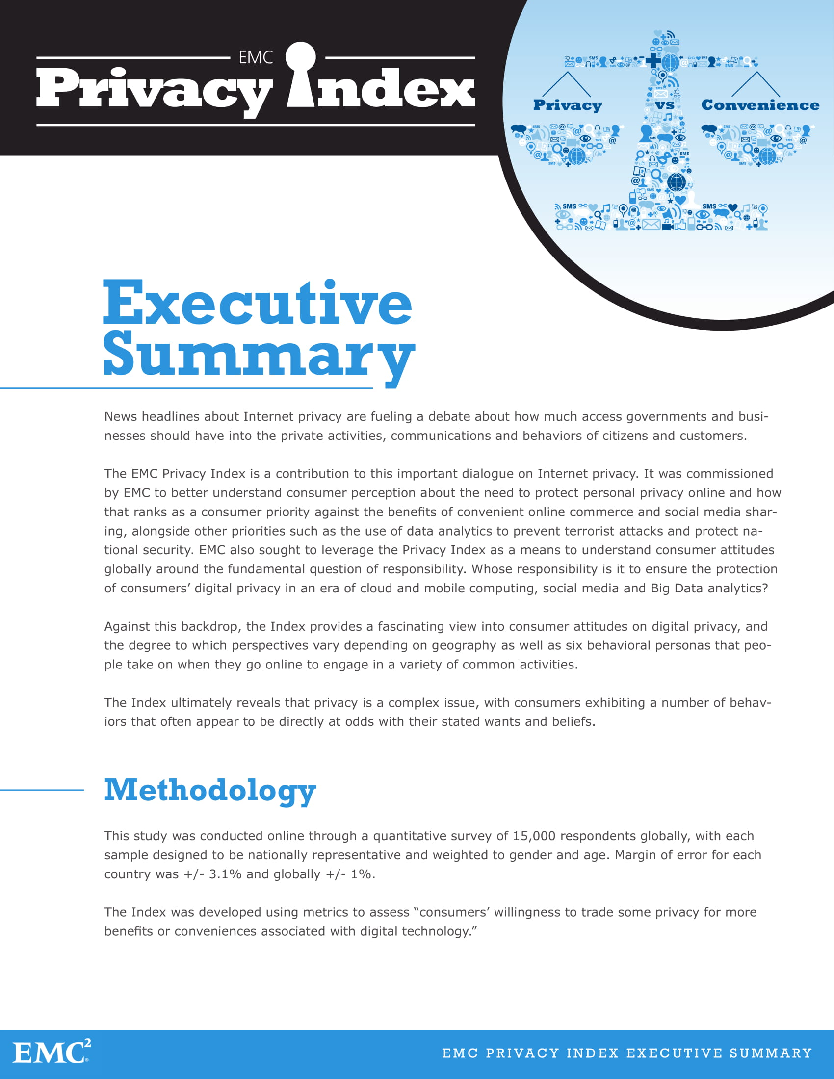 privacy index executive summary example