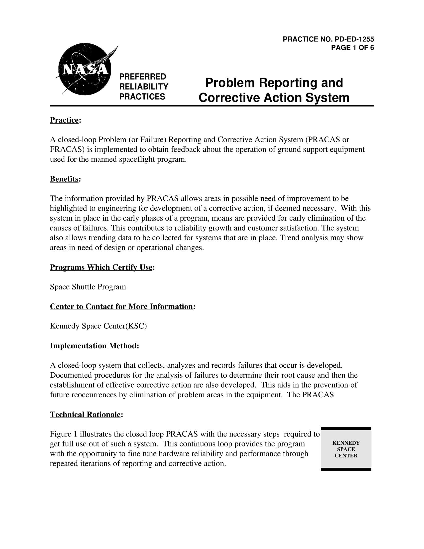 problem reporting and corrective action system example 1