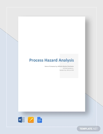process hazard analysis example