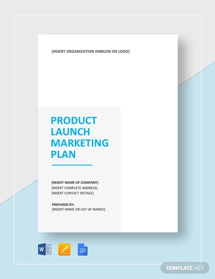 product launch marketing plan example