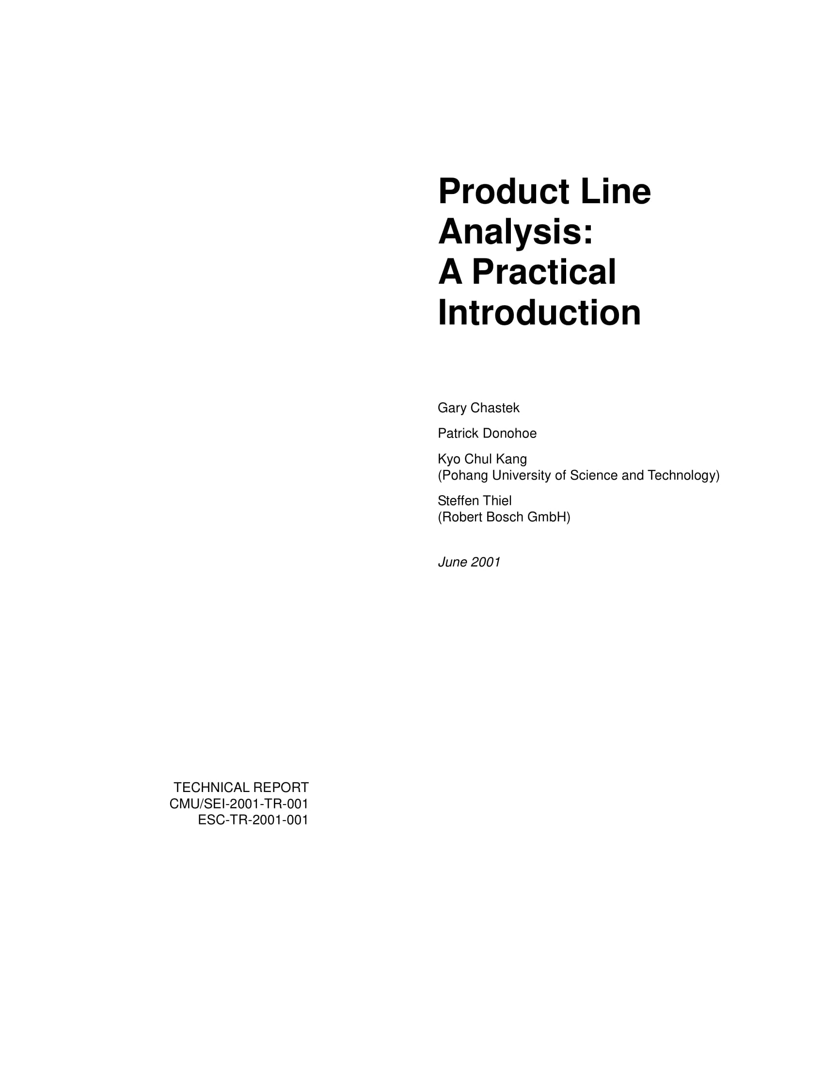 product line analysis example 01