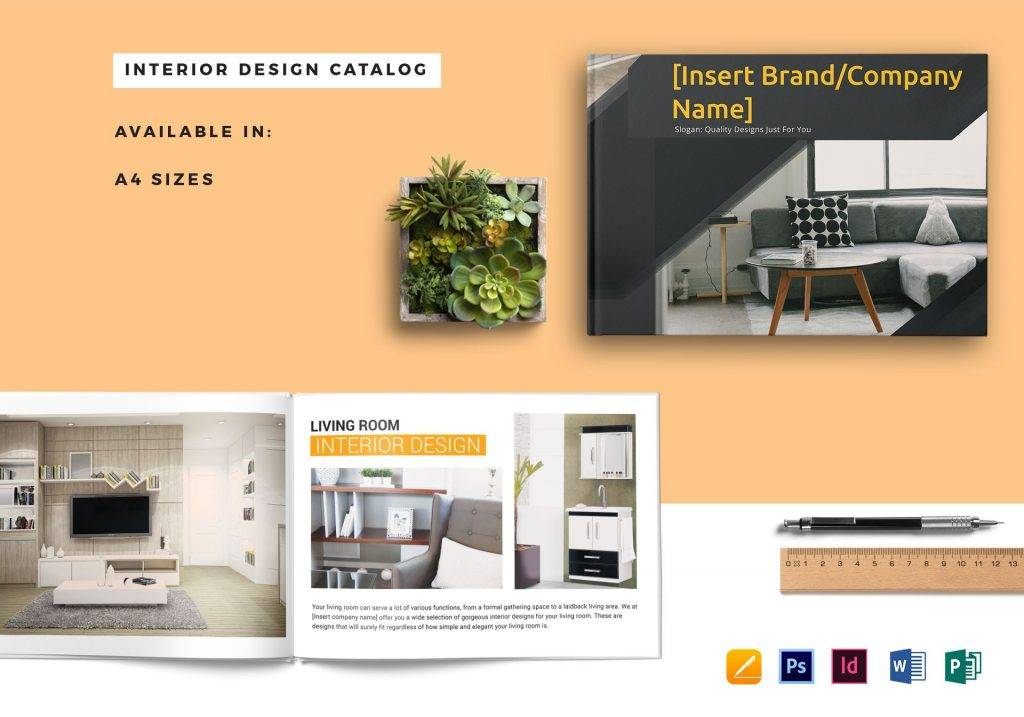 10 Interior Design Catalog Examples Psd Ai Indd Examples