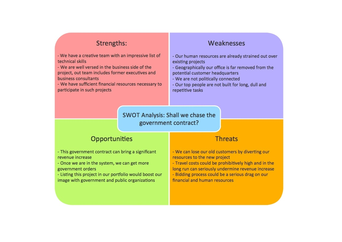 professional swot analysis example