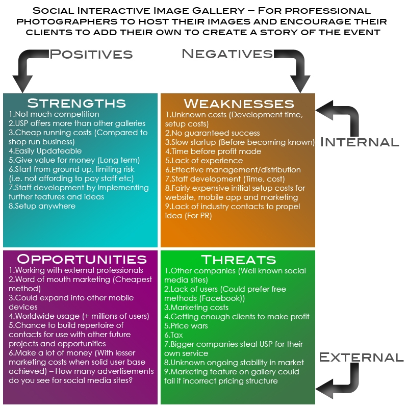 Professional SWOT Analysis For Photographers Example