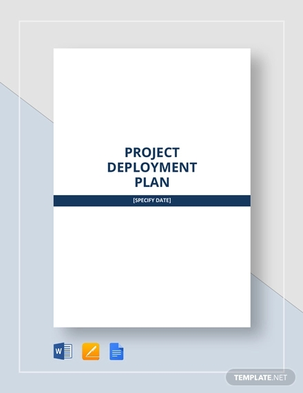 project deployment plan template