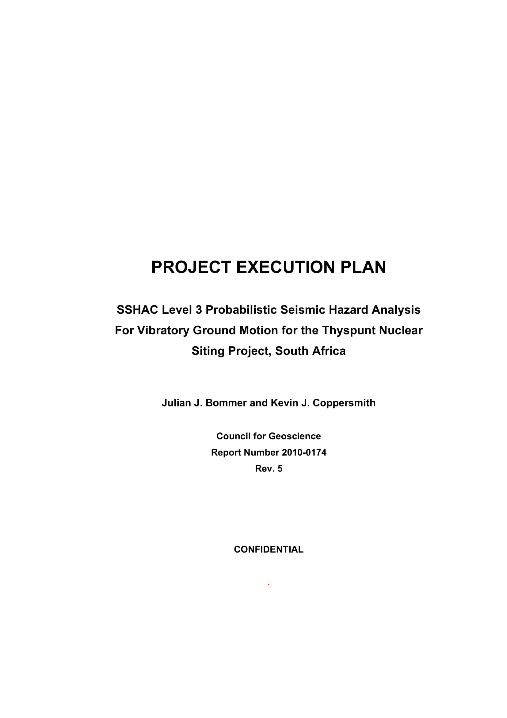 project execution plan example