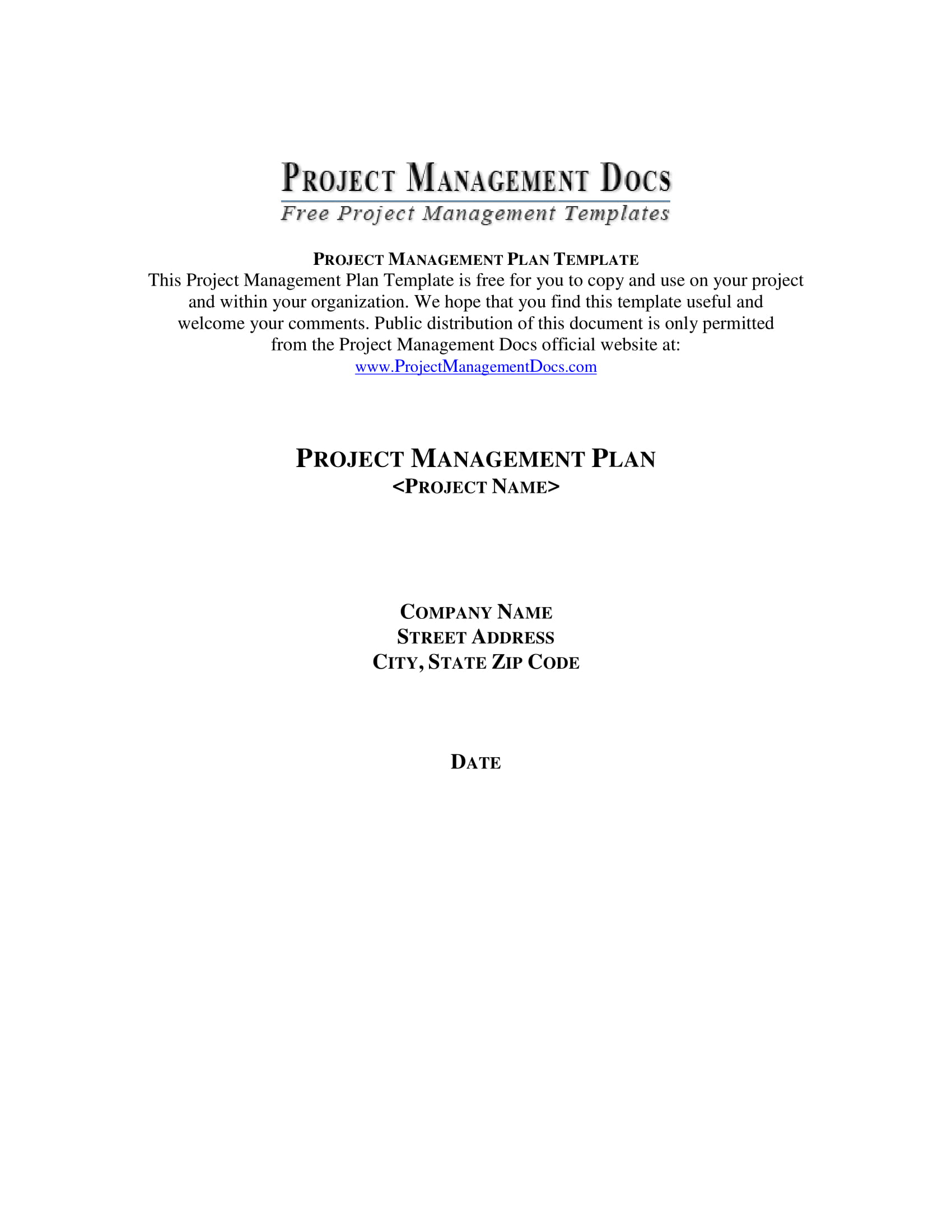 project management plan template example 01