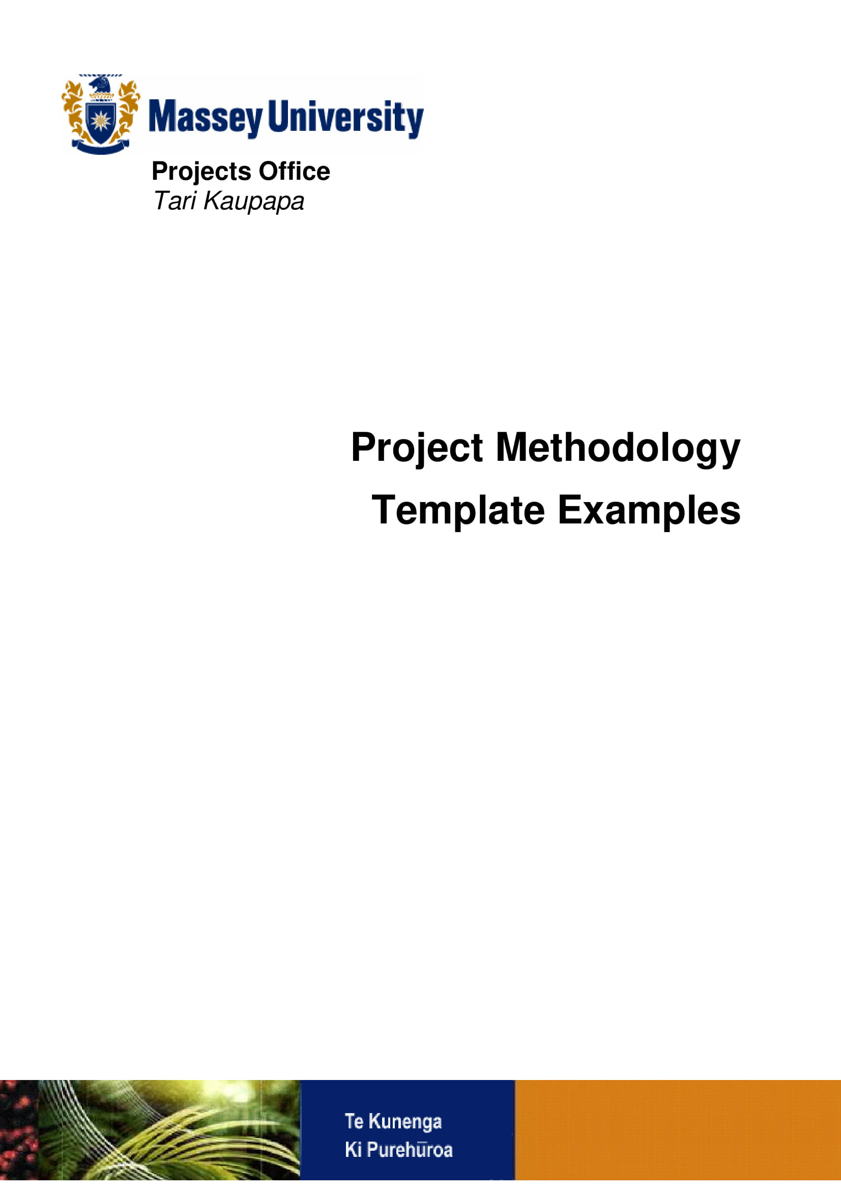 project methodology and management planning template example 001