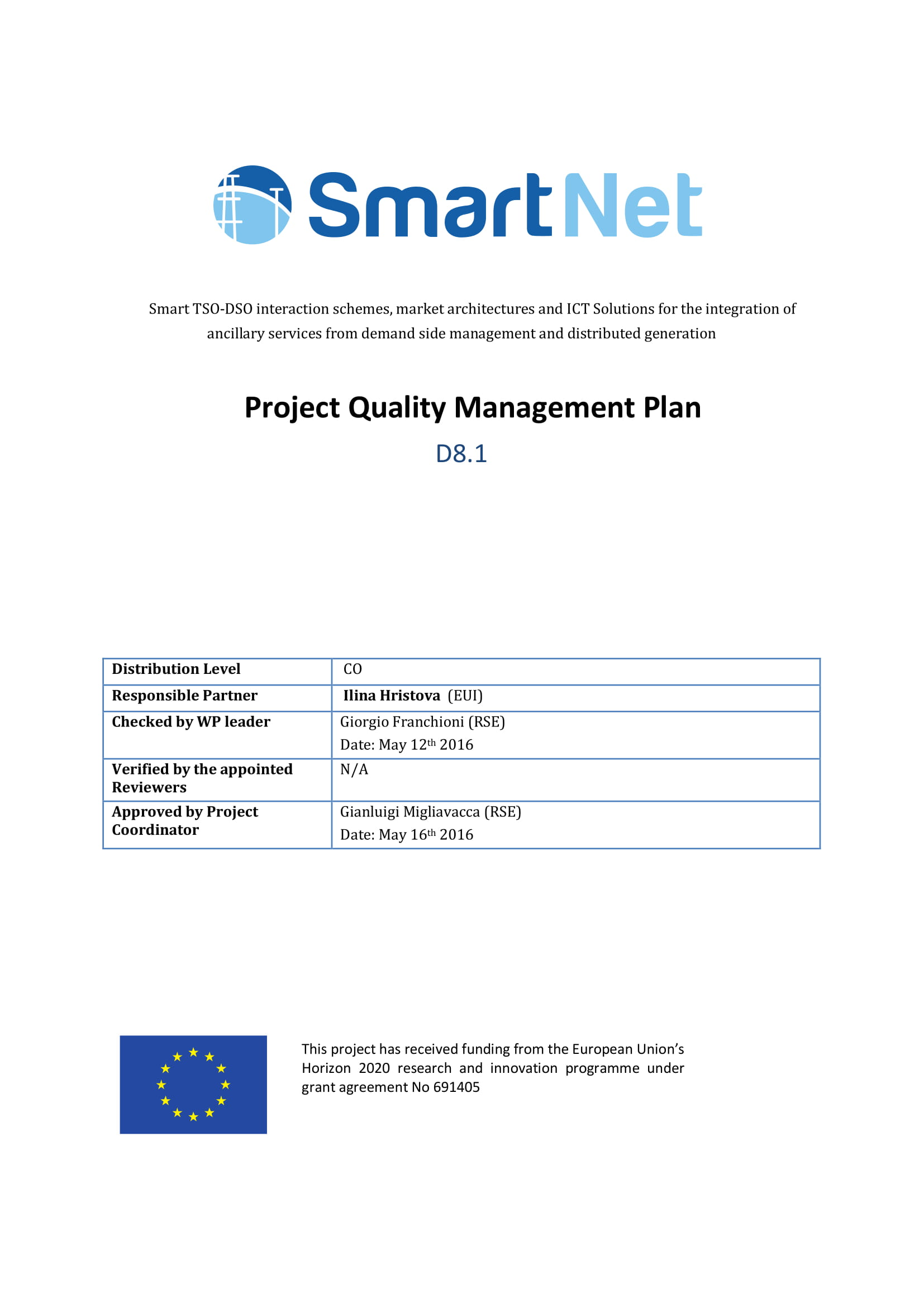 project quality management plan example