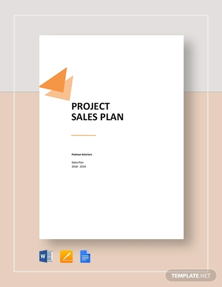 project sales plan template