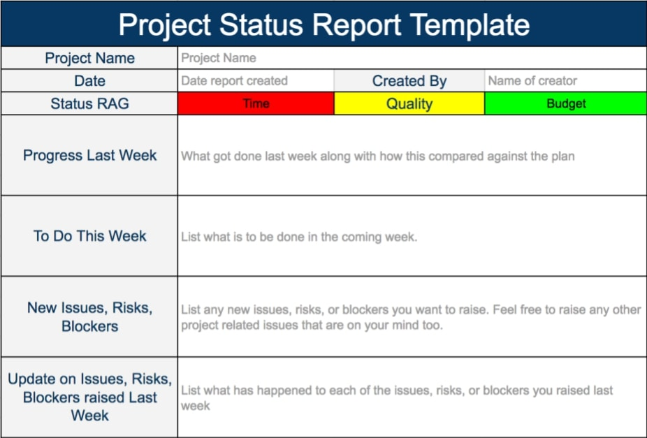 11 project status report examples pdf