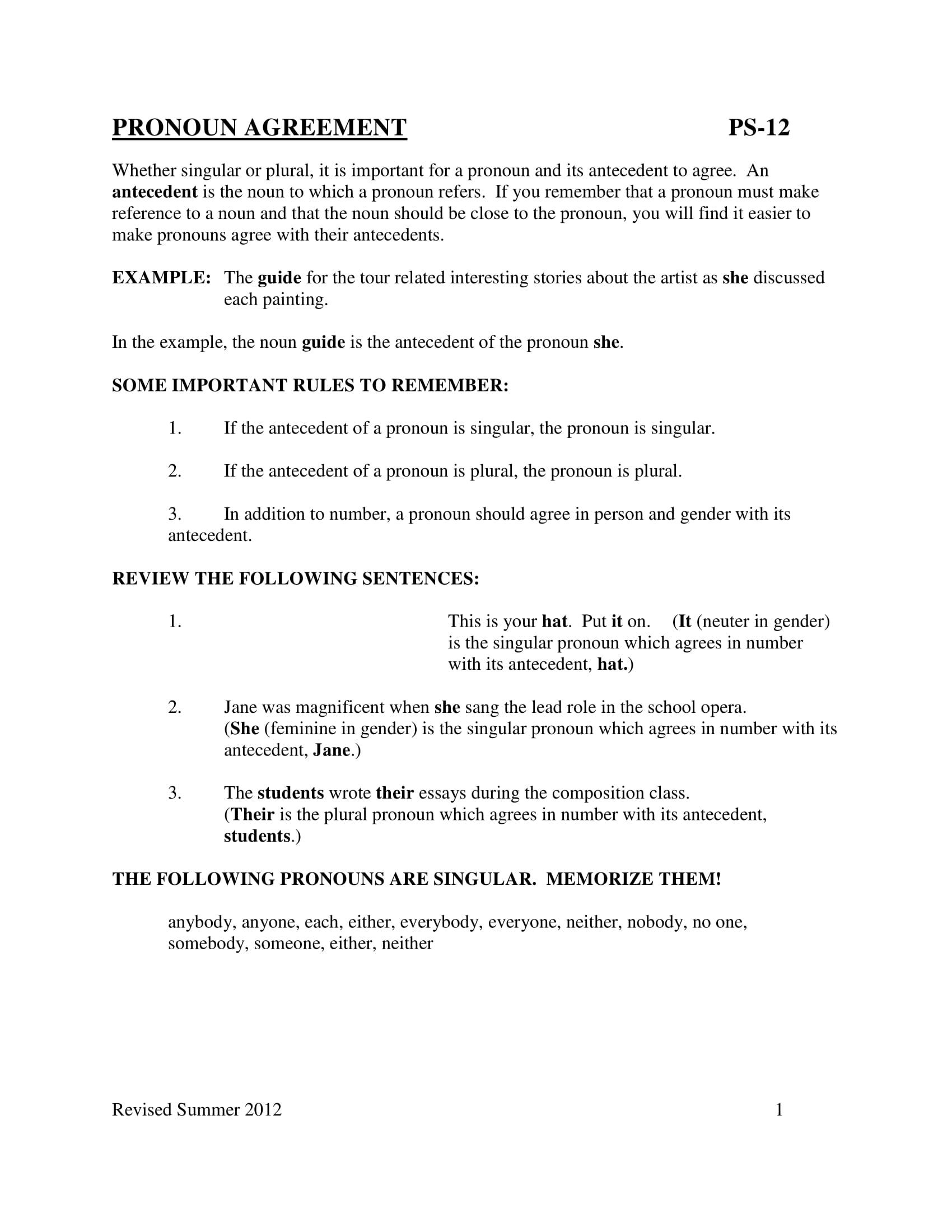 pronoun antecedent agreement guide example1