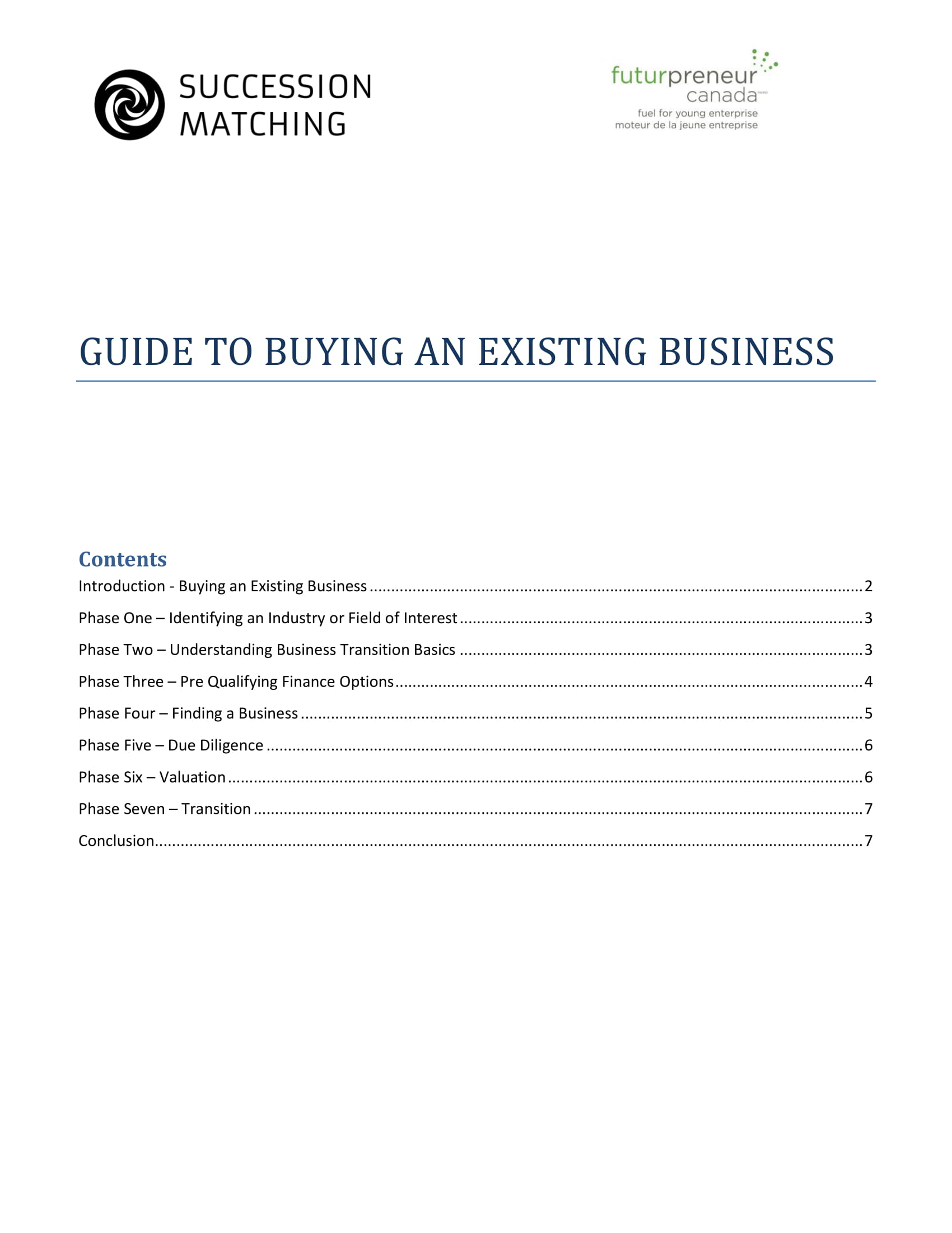 proposal for buying an existing business guide and example 1