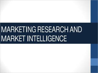 proposal for marketing research and market intelligence example