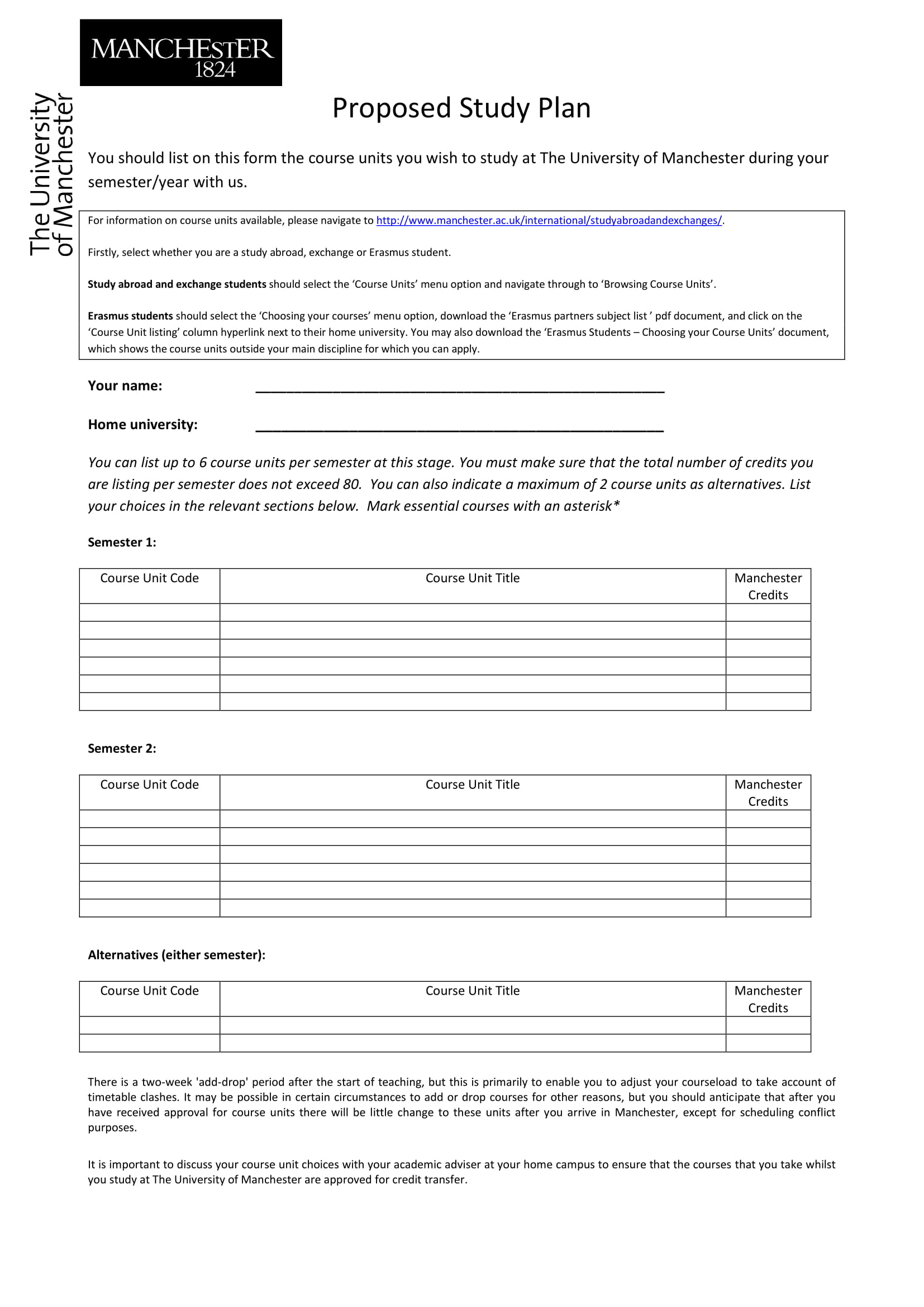9 study plan templates and examples pdf