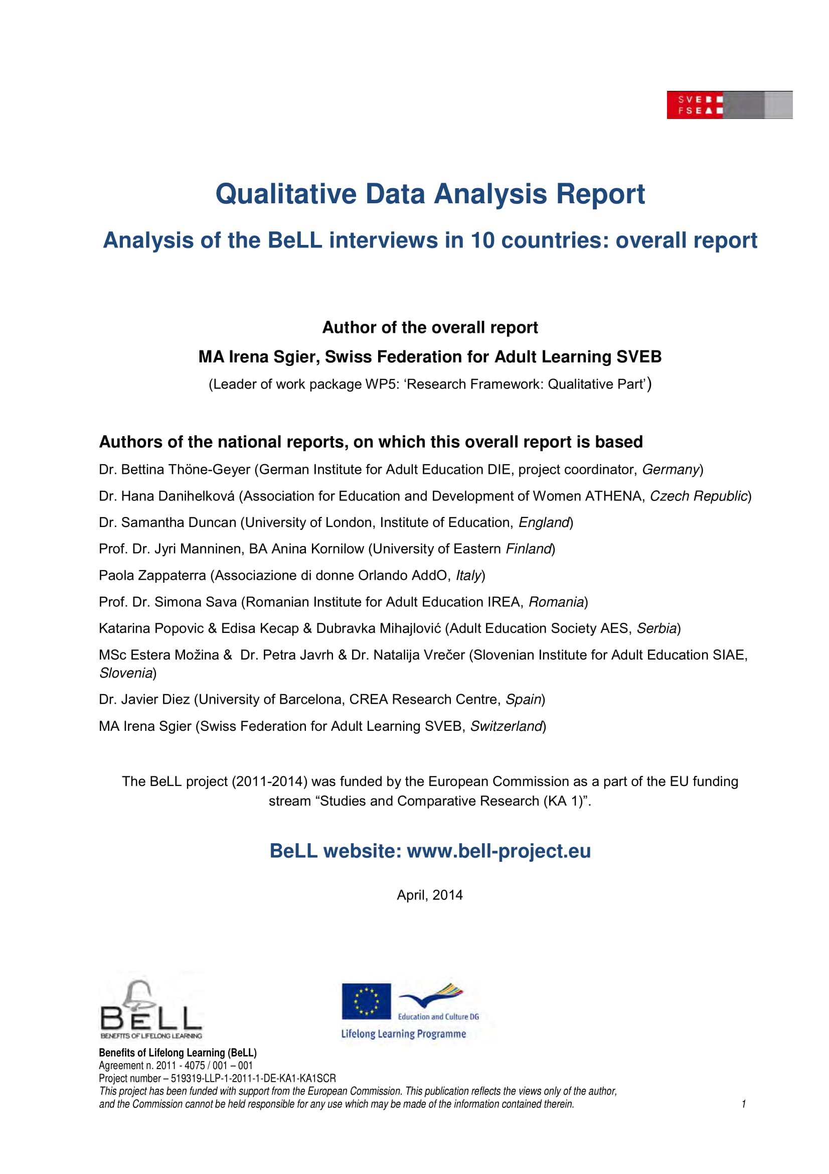 qualitative data analysis report analysis example